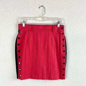 Contempo Casuals | Stripped Mini Snap Button Skirt